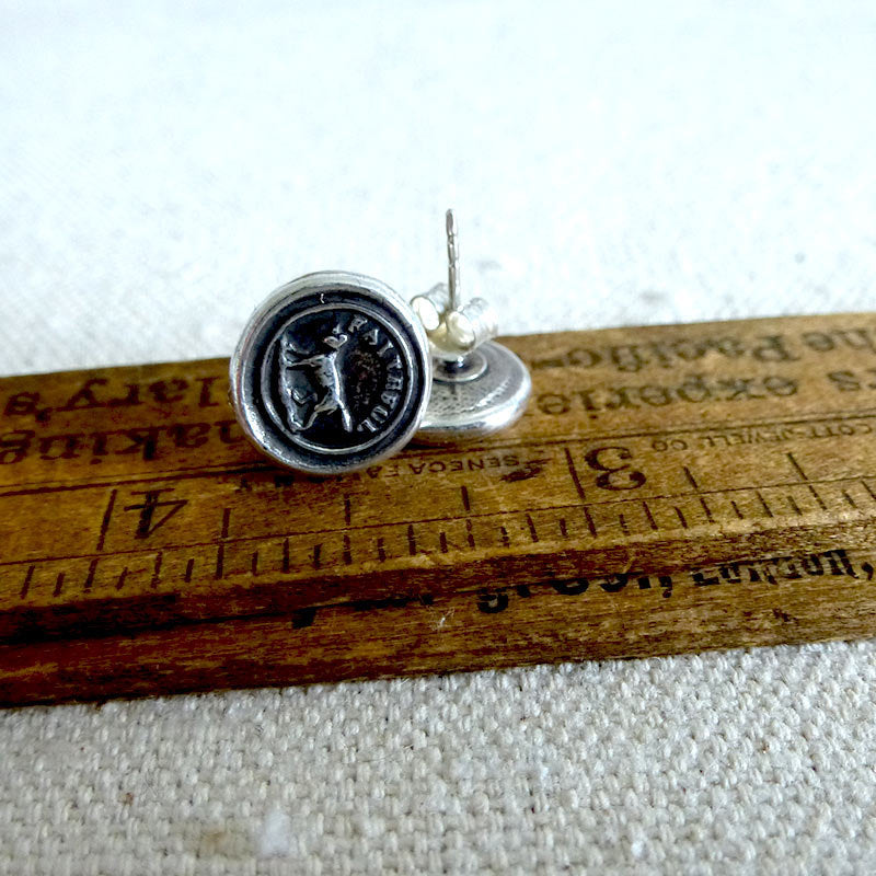 Faithful Friend Wax Seal Earrings