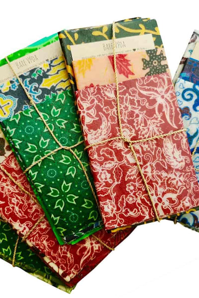 Reusable Beeswax Wraps (3 Pack) - Handmade in Bali