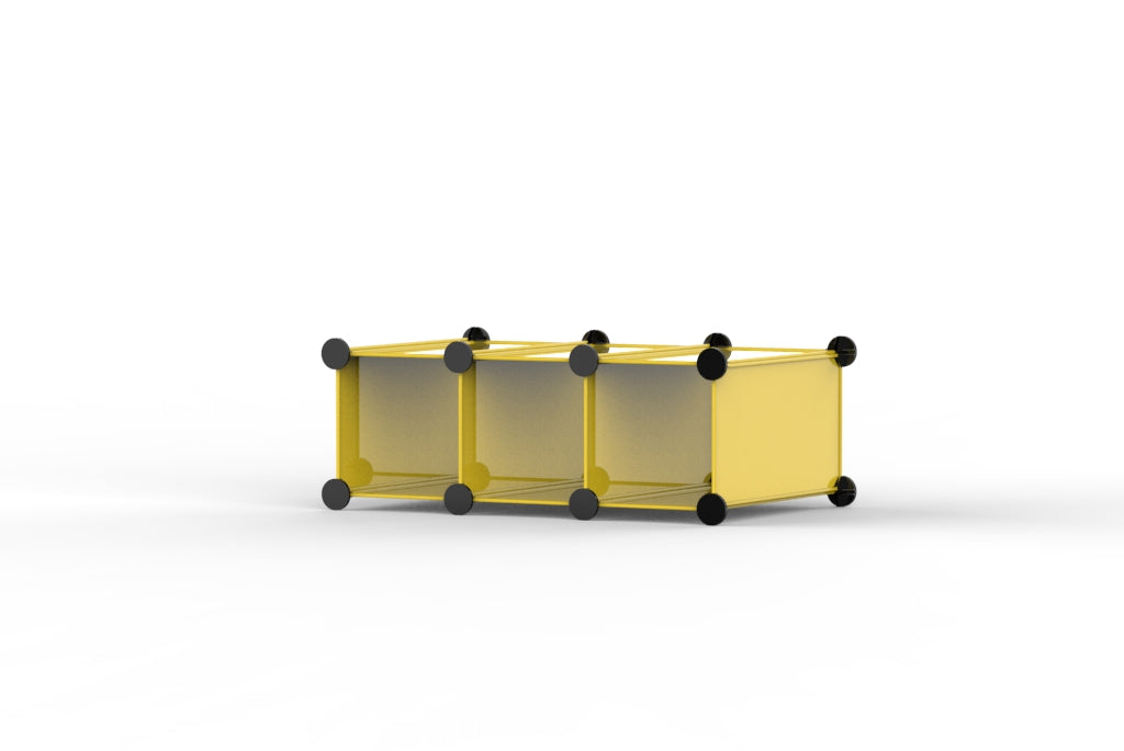 Yellow Cube Storage Boxes