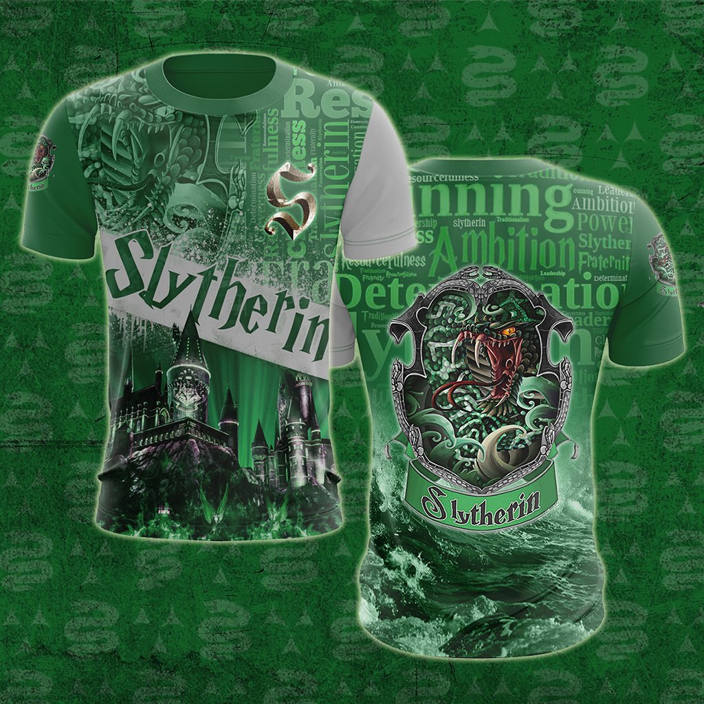 Hogwarts Castle Slytherin House Harry Potter Unisex 3D T-shirt
