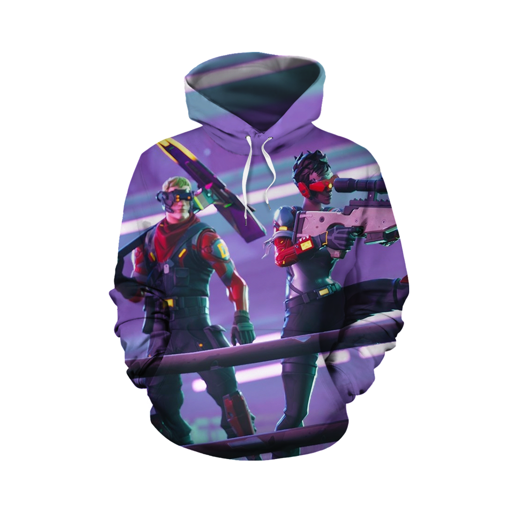 Fortnite Battle Royale Bolt-Action Sniper Rifle 3D Hoodie