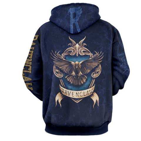 Image of The Wise Ravenclaw Harry Potter New 3D Hoodie