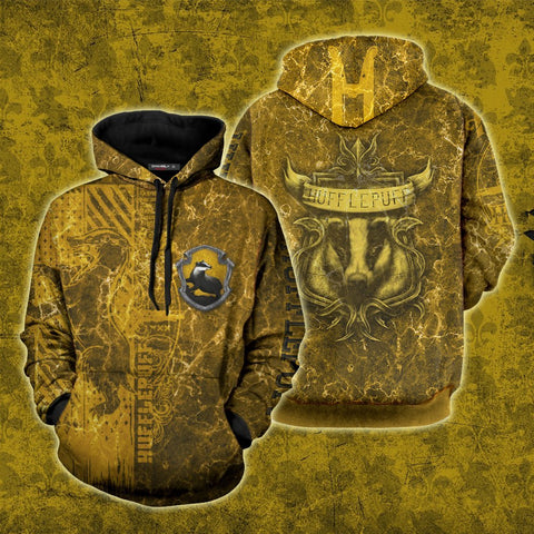 Image of The Just Hufflepuff Harry Potter New 3D Hoodie