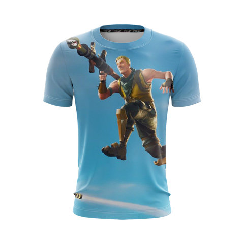 Image of Fortnite Survivalist Jonesy Skin Unisex 3D T-shirt