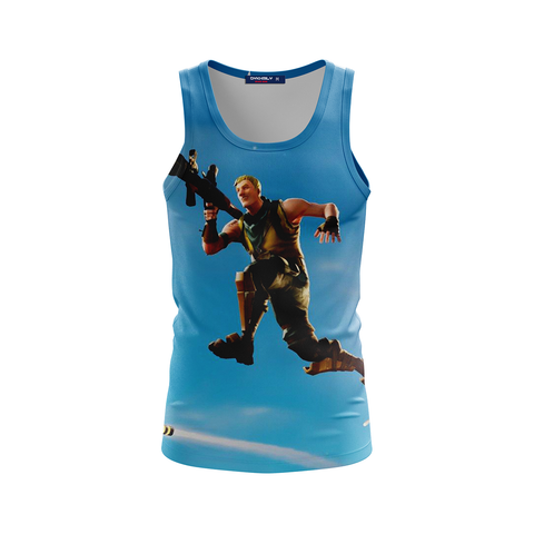 Image of Fortnite Survivalist Jonesy Skin 3D Tank Top