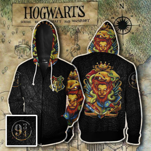 Hogwarts Harry Potter Zip Up Hoodie