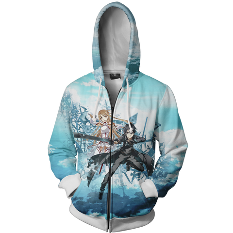 Image of Sword Art Online Zip Up Hoodie
