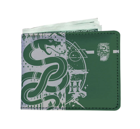 Image of Harry Potter Hogwarts Slytherin House Mens Wallet