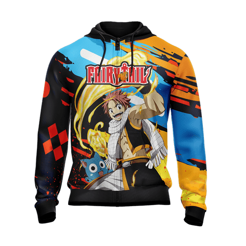 Image of Fairy Tail New Version Unisex Zip Up Hoodie