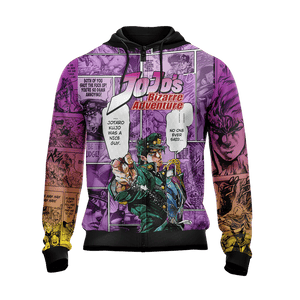 Jojo's Bizarre Adventure New Look Unisex Zip Up Hoodie