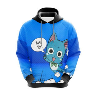 Fairy Tail Happy Unisex 3D Hoodie