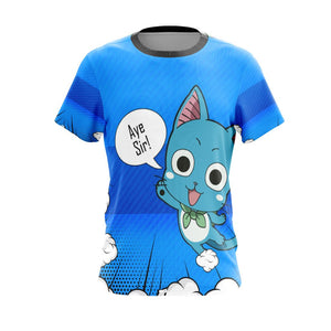 Fairy Tail Happy Unisex 3D T-shirt
