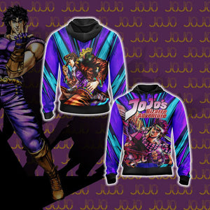 Jojo's Bizarre Adventure - Joseph Joestar New Unisex Zip Up Hoodie