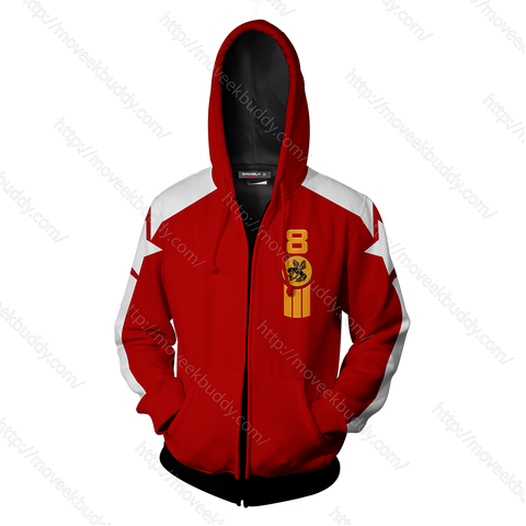 Tekken Slim Bob Cosplay Zip Up Hoodie Jacket