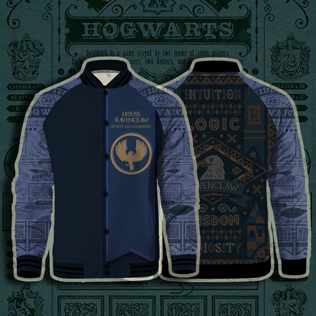 House Ravenclaw Of Wit And Learning Harry Potter Baseball Jacket