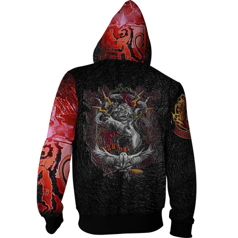 Image of The Gryffindor Lion Harry Potter Zip Up Hoodie