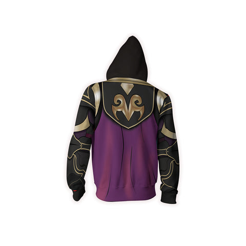 Fire Emblem Xander Cosplay Zip Up Hoodie Jacket