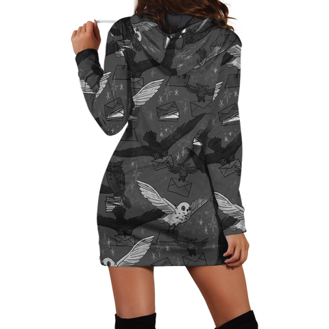 Image of Hedwig Owl Seamless Harry Potter 3D Hoodie Dress