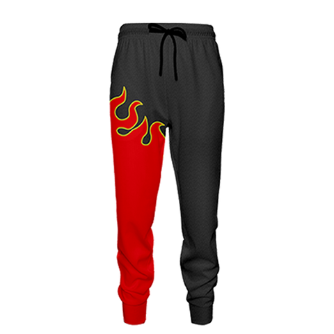 Image of Tekken Jin Kazama Red Flame Cosplay Jogging Pants