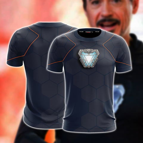 Image of Iron Man Cosplay (Tony Stark) Unisex 3D T-shirt