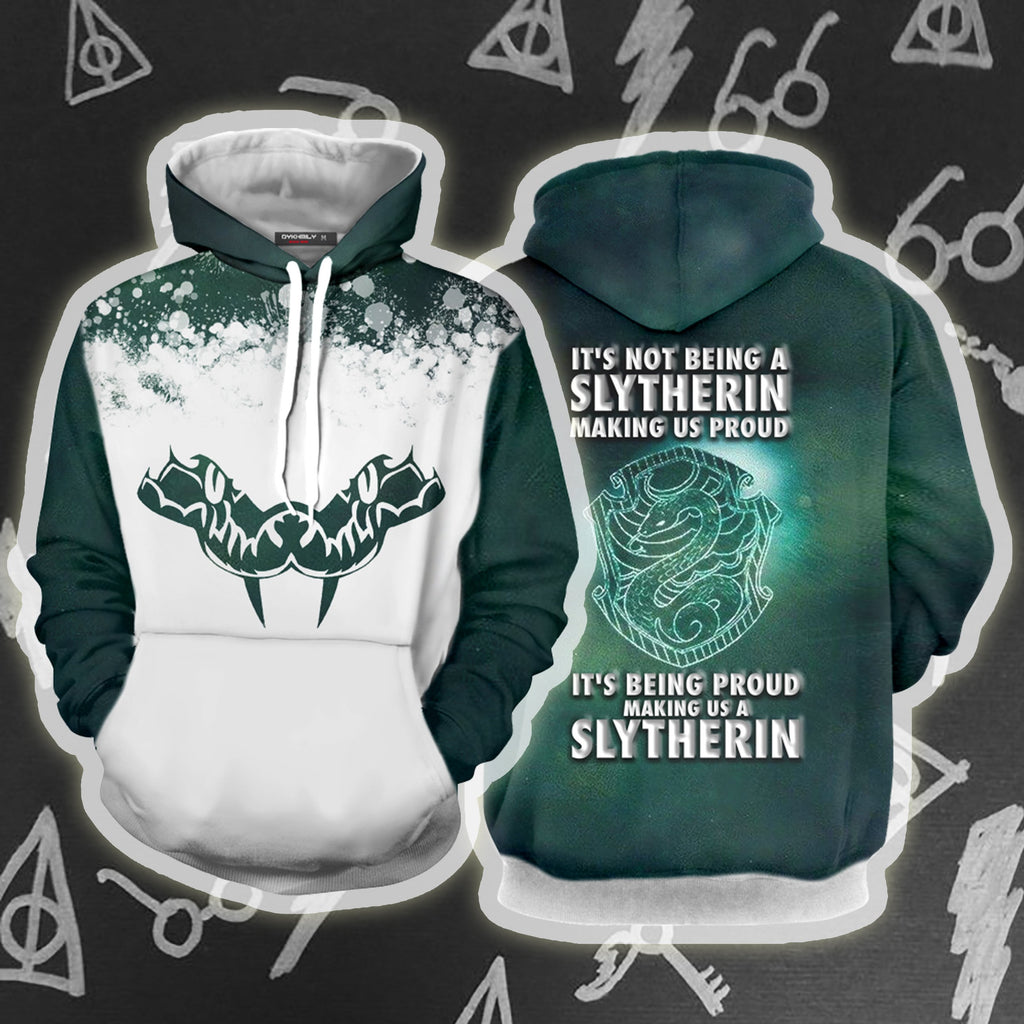It's Being Proud Making Us A Slytherin Harry Potter 3D Hoodie