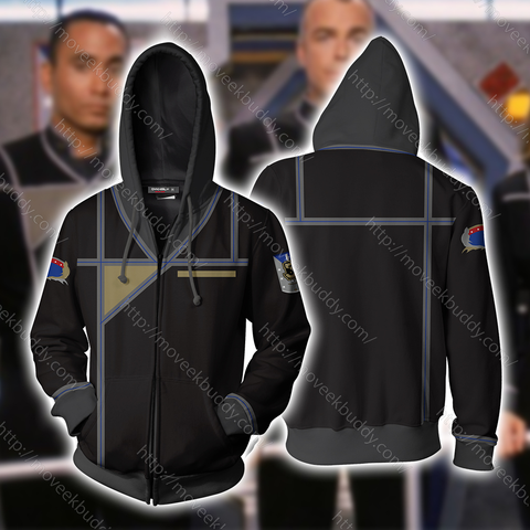 Image of Babylon 5 Army Of Light Uniform Cosplay Zip Up Hoodie Jacket