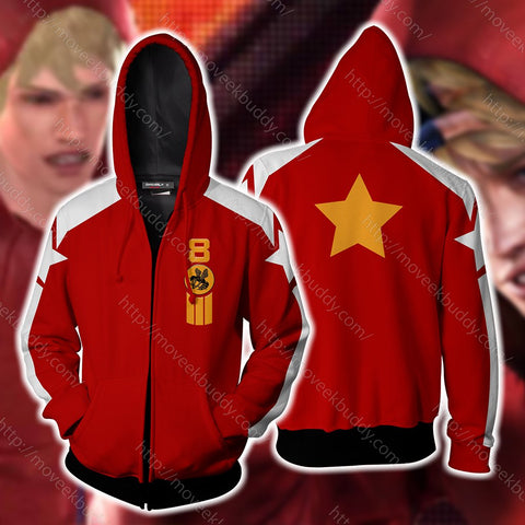 Image of Tekken Slim Bob Cosplay Zip Up Hoodie Jacket