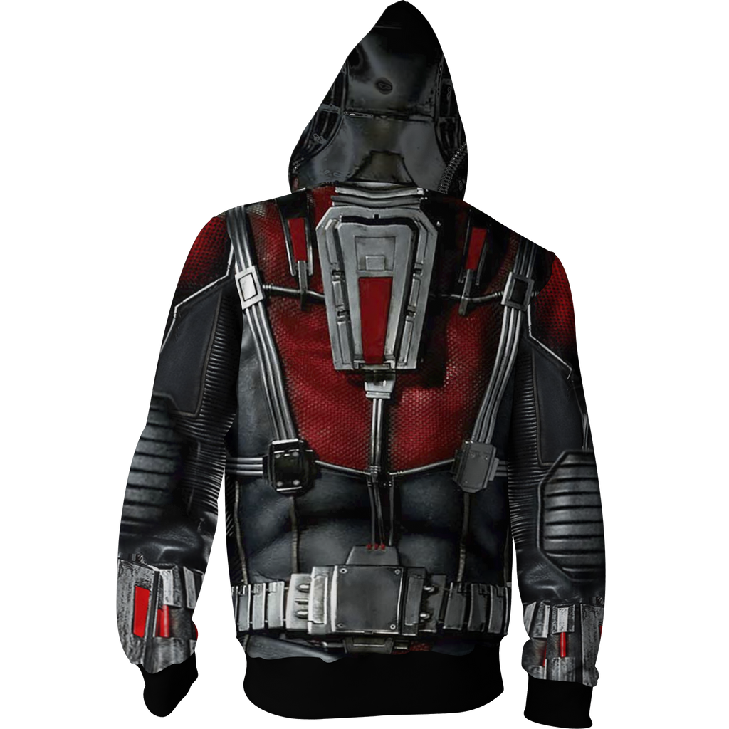 Ant Man Cosplay Zip Up Hoodie Jacket