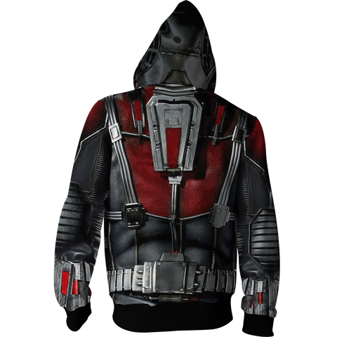 Image of Ant Man Cosplay Zip Up Hoodie Jacket