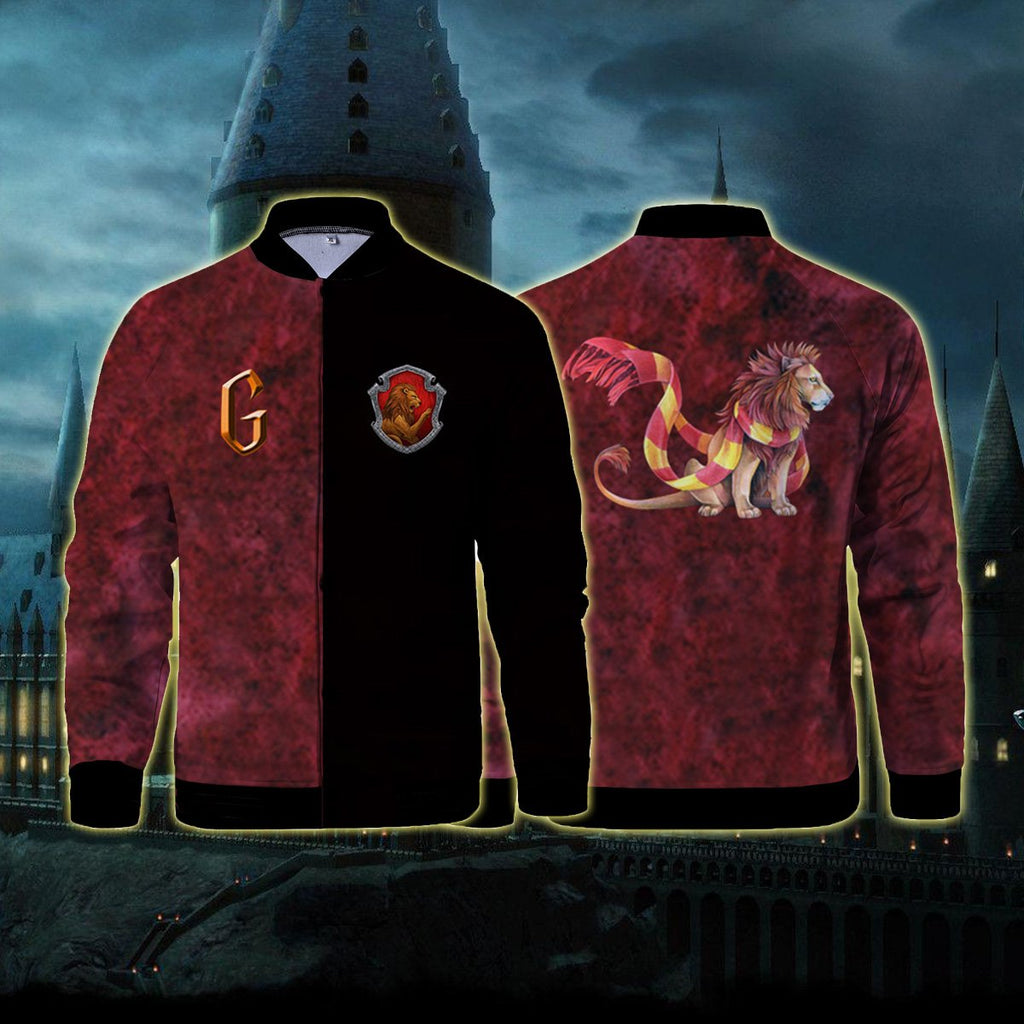 The Gryffindor Lion Hogwarts Harry Potter Baseball Jacket