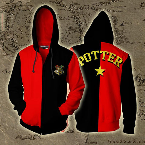 Triwizard Tournament Harry Potter (Potter) Zip Up Hoodie