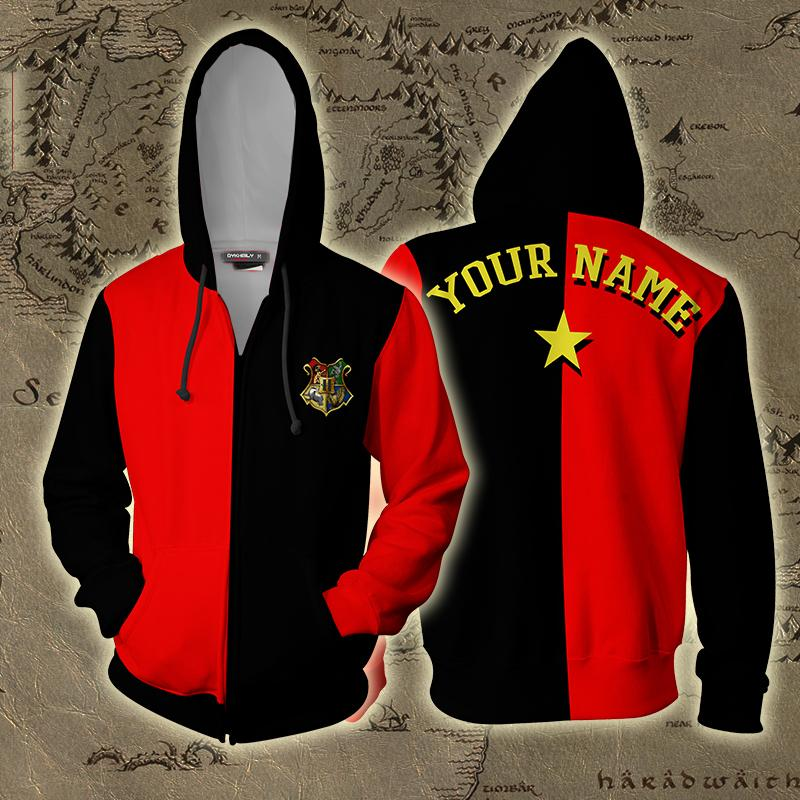Triwizard Tournament Harry Potter (Customized Name) Zip Up Hoodie