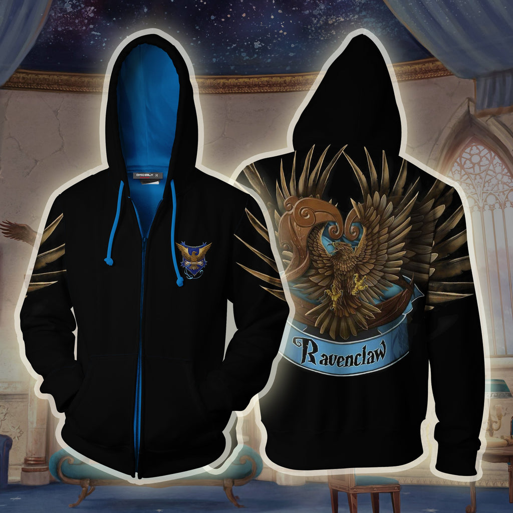 Ravenclaw Hogwarts Harry Potter 3D Zip Up Hoodie
