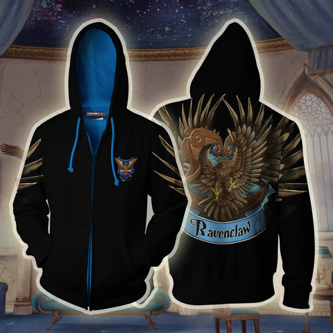 Image of Ravenclaw Hogwarts Harry Potter 3D Zip Up Hoodie