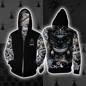 The Ravenclaw Eagle Harry Potter New Collection Zip Up Hoodie