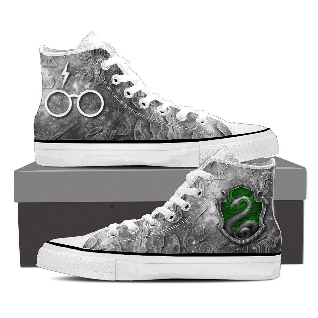 The Slytherin Snake Harry Potter High Top Shoes