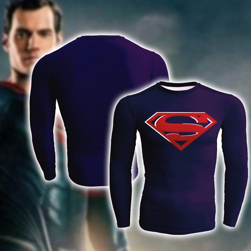 Superman Dean Cain Cosplay Long Sleeve Compression T-shirt
