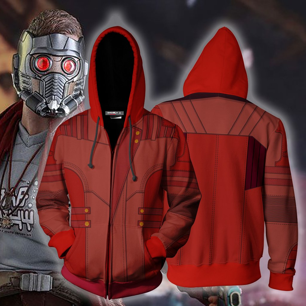Guardians Of The Galaxy Vol. 2 Star-Lord Cosplay Zip Up Hoodie Jacket