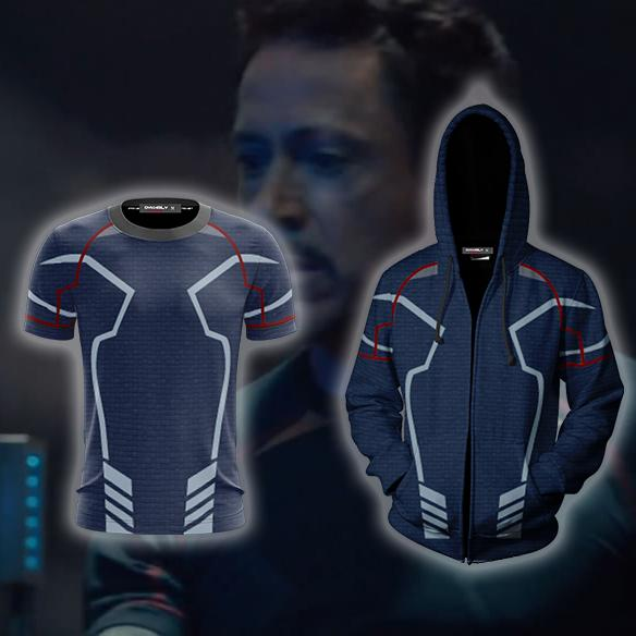 Avengers: Age of Ultron Iron Man (Tony Stark) Cosplay Zip Up Hoodie Jacket