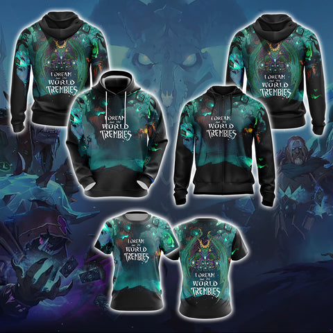 Image of Hearthstone  I Dream And The World Trembles Unisex 3D Hoodie