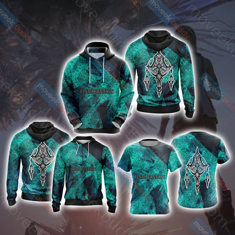 Image of Final Fantasy XII - Esper Symbol Unisex Zip Up Hoodie Jacket