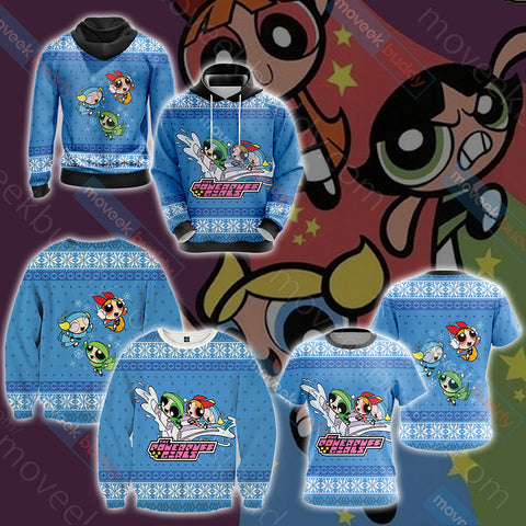 Image of The Powerpuff Girls Christmas Style Unisex 3D Hoodie