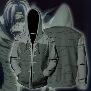 Death Note Shinigami Cosplay Zip Up Hoodie Jacket