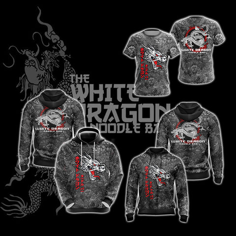 Image of Blade Runner White Dragon Noodle Bar Unisex Zip Up Hoodie