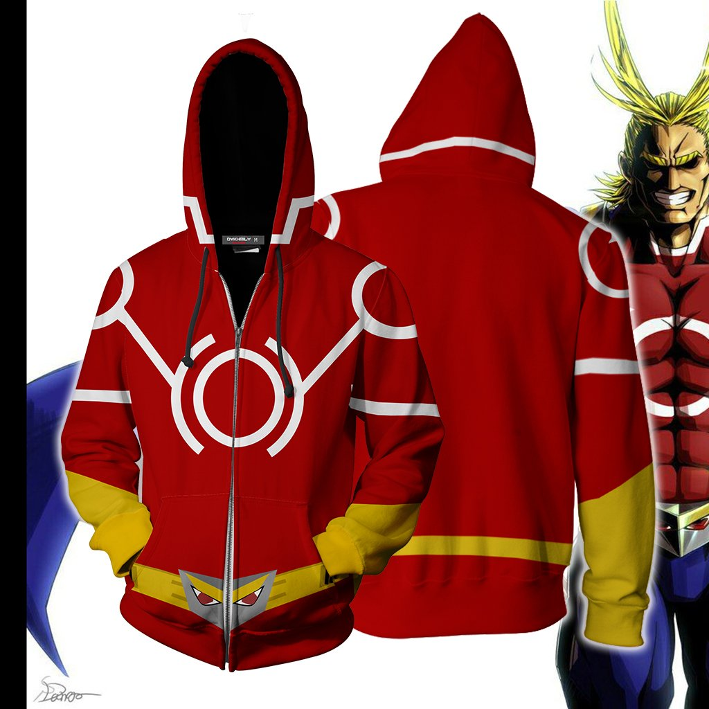 Boku No Hero Academia All Mighty Cosplay Zip Up Hoodie Jacket