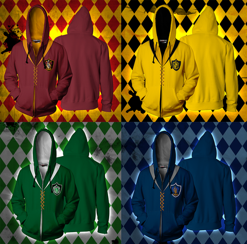 Image of The Gryffindor Quidditch Team Harry Potter Zip Up Hoodie