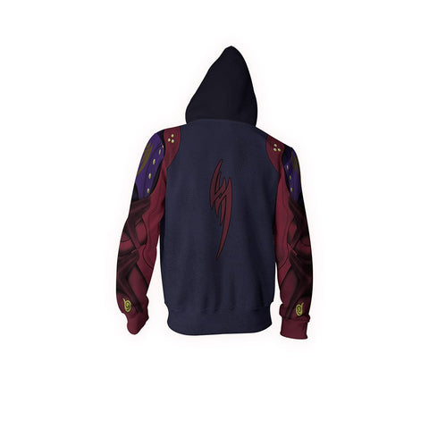 Tekken Jin Kazama Cosplay Zip Up Hoodie Jacket