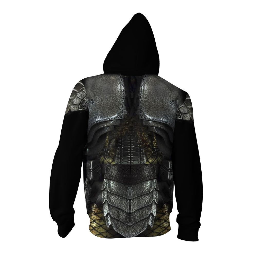 Predator Cosplay Zip Up Hoodie Jacket