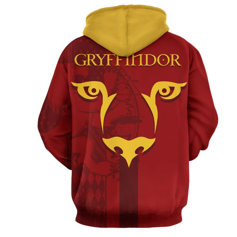 Quidditch Gryffindor Harry Potter 3D Hoodie