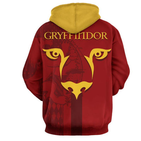 Image of Quidditch Gryffindor Harry Potter 3D Hoodie